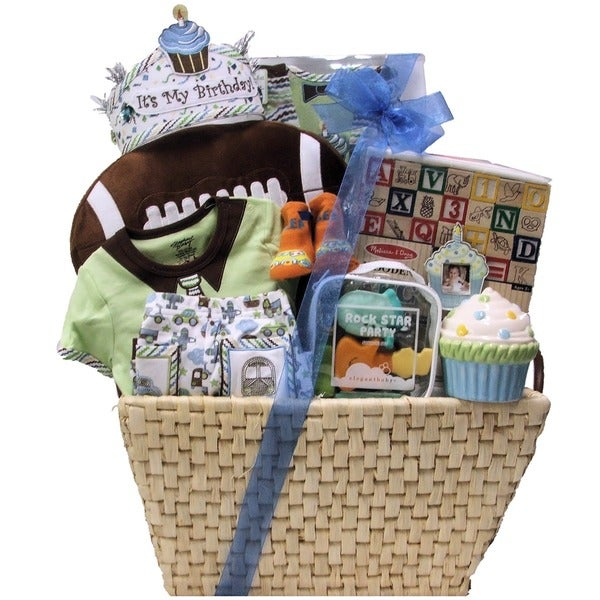 Great Arrivals Baby's 1st Birthday Boy Large Gift Basket