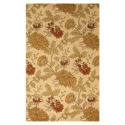 Hand-tufted Wool Beige Transitional floral Electra Rug (5' x 8') - Thumbnail 0
