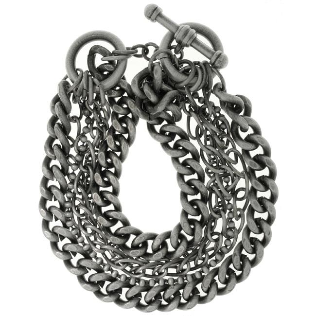 Carolina Glamour Collection Silverplated Six-chain Toggle Bracelet