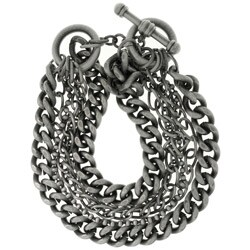 Carolina Glamour Collection Silverplated Six-chain Toggle Bracelet