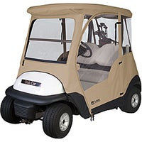 Shop Fairway Golf Cart Deluxe Enclosure Extra Long Roof - Khaki - 40 on