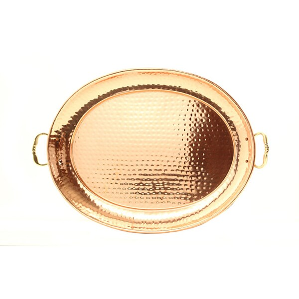 Old Dutch Copper Tray with Cast Brass Handle