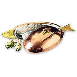 Old Dutch Decor Copper Covered Fish Platter