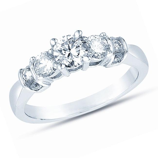 14k White Gold 1ct TDW Diamond Engagement Ring (H-I, I1)