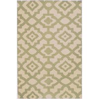 Hand-woven Natural Market B Wool Area Rug - 8' x 11'
