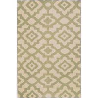 Hand-woven Natural Market B Wool Area Rug (5' x 8')