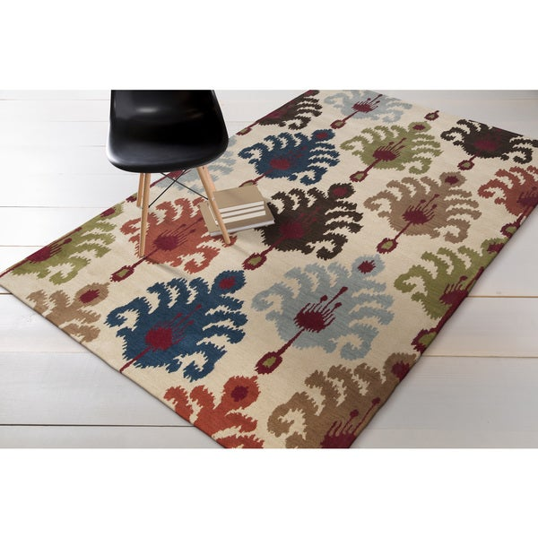 Hand-tufted Beige Mercury54 Wool Area Rug - 8' x 11'