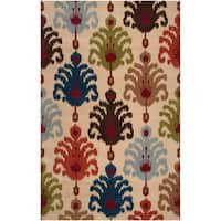 Hand-tufted Beige Mercury54 Wool Area Rug - 5' x 8'