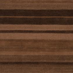 Hand-crafted Brown Stripe Casual Mystique Wool Rug (8' x 11') - Thumbnail 2