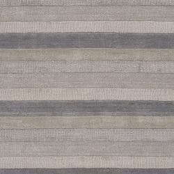 Hand-crafted Grey Stripe Casual Mystique Wool Rug (3'3 x 5'3)