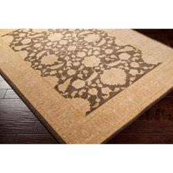 Woven Brown Stake Rug (5'3 x 7'8) - Thumbnail 1
