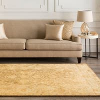 Hand-tufted Beige Panel New Zealand Wool Area Rug - 2'6 x 8'