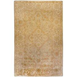 Hand-tufted Orange Panel A New Zeland Wool Rug (5' x 8')