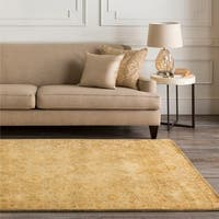 Hand-tufted Orange Panel A New Zeland Wool Area Rug - 5' x 8'