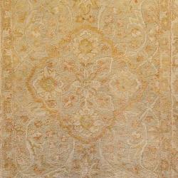 Hand-tufted Orange Panel A New Zealand Wool Rug (8' x 11') - Thumbnail 2