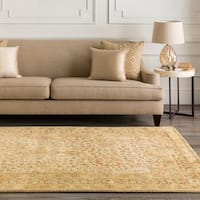 Hand-tufted Natural Panel B New Zealand Wool Area Rug - 3'3 x 5'3