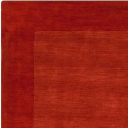 Hand-crafted Orange Tone-On-Tone Bordered Pechora Wool Rug (3'3 x 5'3) - Thumbnail 1