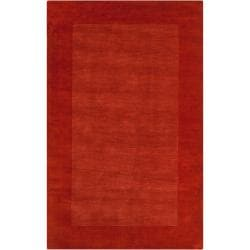 Hand-crafted Orange Tone-On-Tone Bordered Pechora Wool Area Rug (3'3 x 5'3) - Thumbnail 0