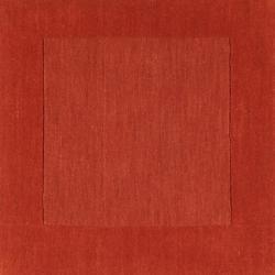 Hand-crafted Orange Tone-On-Tone Bordered Pechora Wool Rug (7'6 x 9'6)