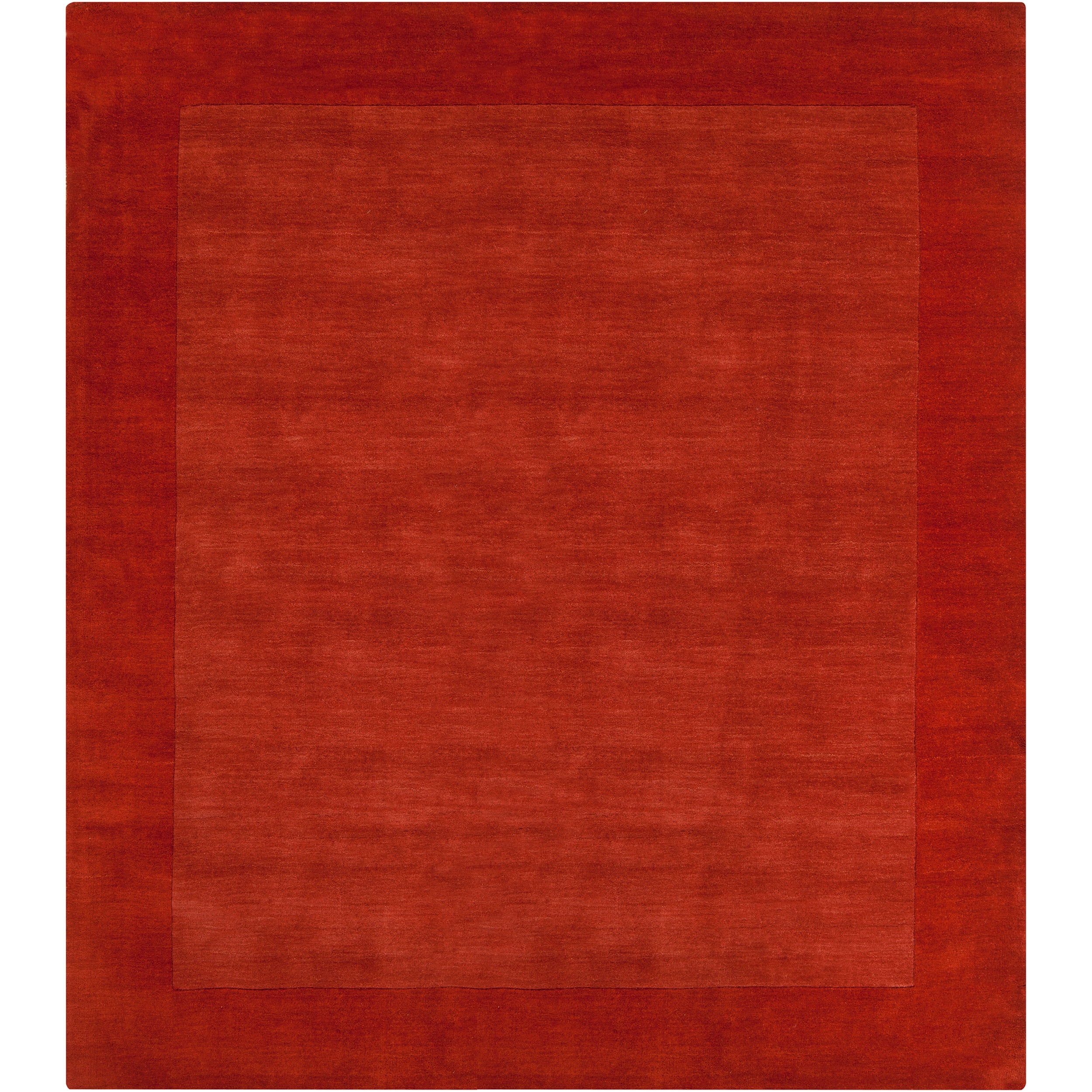 Hand-crafted Orange Tone-On-Tone Bordered Pechora Wool Rug (8' Square)