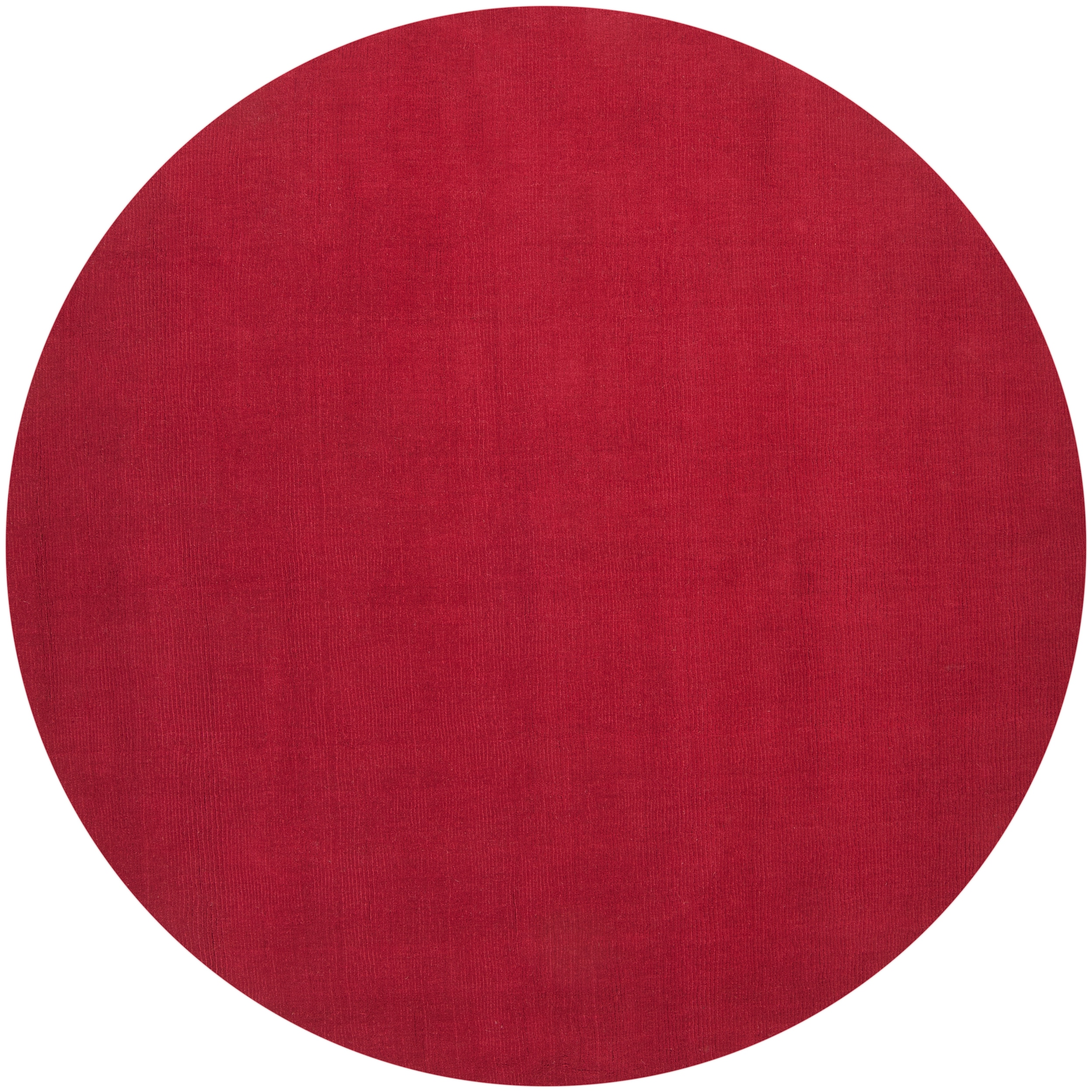 Hand Crafted Red Solid Casual Vaga Wool Area Rug 6 Round