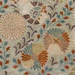 Hand-tufted Green Panel K New Zealand Wool Rug (3'3 x 5'3) - Thumbnail 2