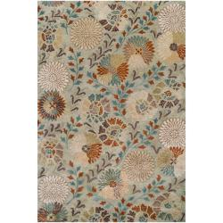 Hand-tufted Green Panel K New Zealand Wool Area Rug (3'3 x 5'3) - Thumbnail 0