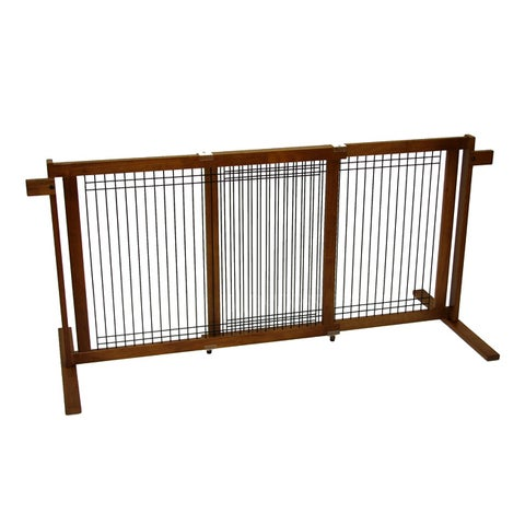 Crown Pet Tall 40.6 to 75.5-inch Large Span Freestanding Pet Gate with Security Arms