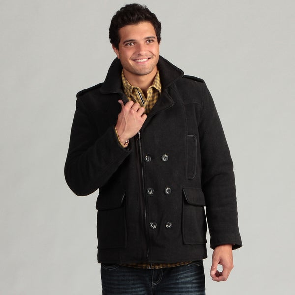 Joe Whistler Men's Full Zip Peacoat