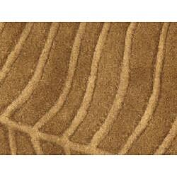 Hand-tufted Spectra Khaki Wool Rug (5' x 7'3)