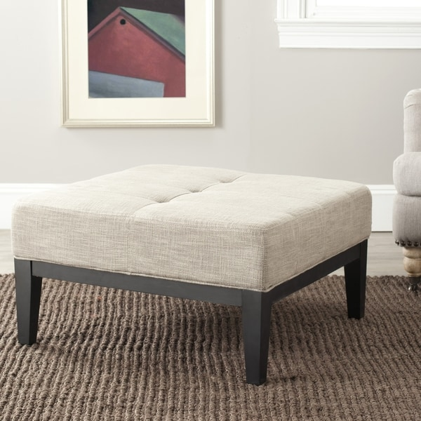 Safavieh Fulton Storage Grey Viscose Square Ottoman