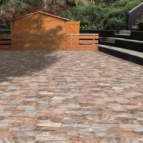 SomerTile 17.75x17.75-inch Rhone Caliza Ceramic Floor and Wall Tile (8 tiles/17.5 sqft.)