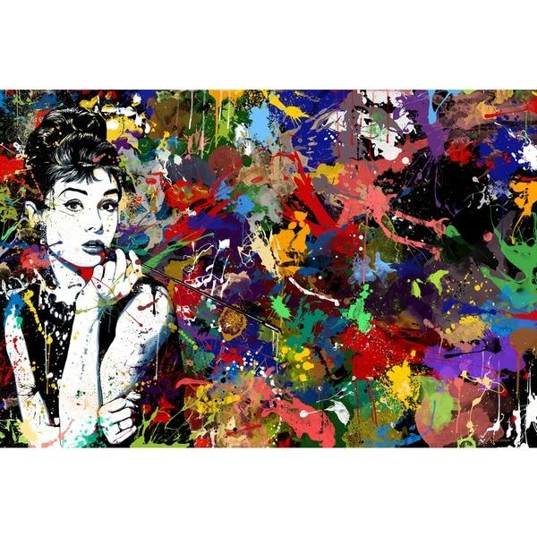 Maxwell Dickson Audrey Hepburn Pop Art Canvas Print