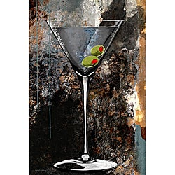 Maxwell Dickson 'Martini Glass' Modern Canvas Art