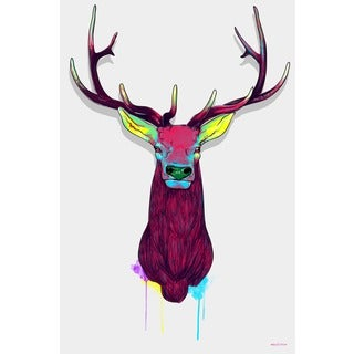 Maxwell Dickson 'Elk Head' Canvas Wall Art