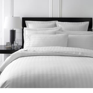 Damask Stripe Collection 400 Thread Count King-size Duvet Cover