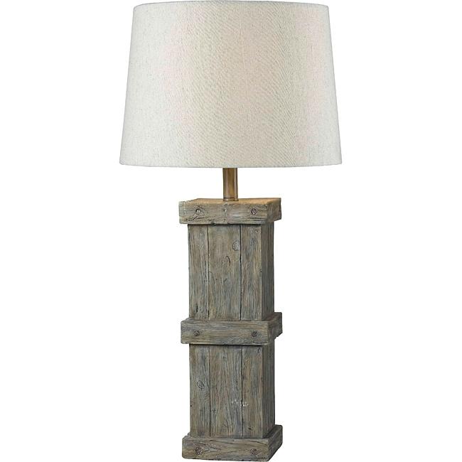 Sykes Wood Grain Finish Table Lamp
