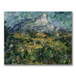 Paul Cezanne 'Mont Sainte-Victoire' Medium Canvas Art