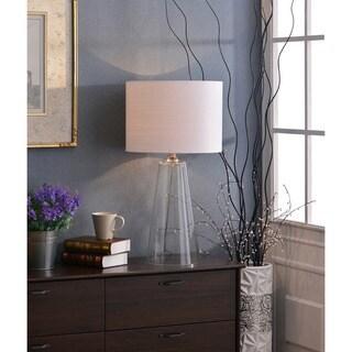 Design Craft Chamberlain 29-inch Clear Glass Table Lamp