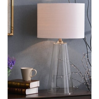 Design Craft Chamberlain 29-inch Clear Glass Table Lamp