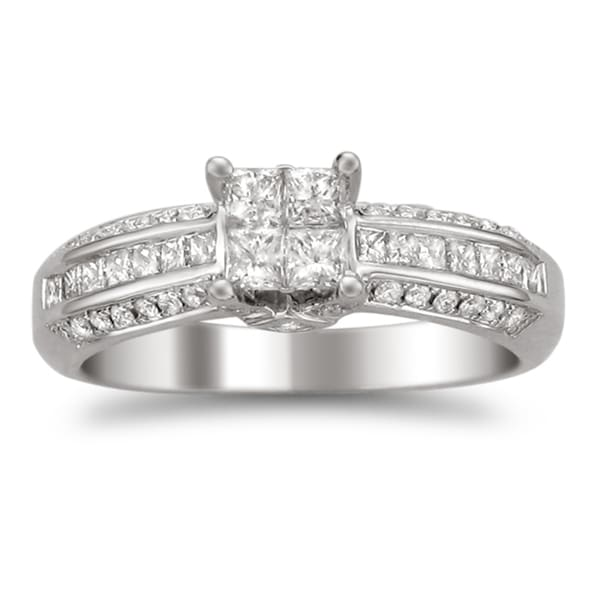 Montebello 14k White Gold 7/8ct TDW Diamond Composite Engagement Ring (H-I, I2)