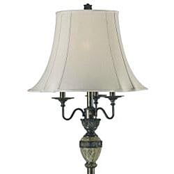 Tudor 64-inch Bronze with Marble Accents Floor Lamp - Thumbnail 1