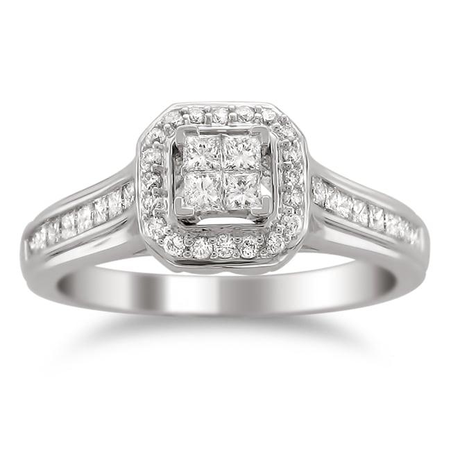 Montebello 14k Gold 5/8ct TDW Diamond Composite Engagement Ring (H-I, I1-I2)