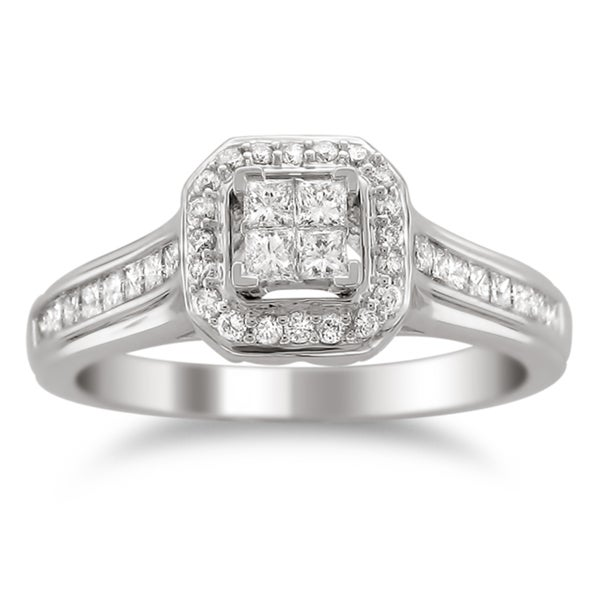 Montebello 14k Gold 5/8ct TDW Diamond Composite Engagement Ring (H-I, I1-I2)