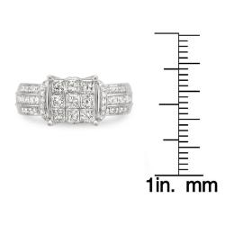 Montebello 14k Gold 1 1/2ct TDW Diamond Composite Engagement Ring (H-I, I2-I3)