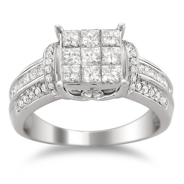 Montebello 14k Gold 1 1/2ct TDW Diamond Composite Engagement Ring (H-I, I2-I3)