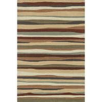 Hand-tufted Chalice Spice Stripes Rug - 7'9 x 9'9