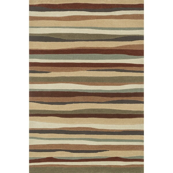 Hand-tufted Chalice Spice Stripes Rug - 3'6 x 5'6