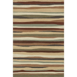 Hand-tufted Chalice Spice Stripes Rug (3'6 x 5'6)