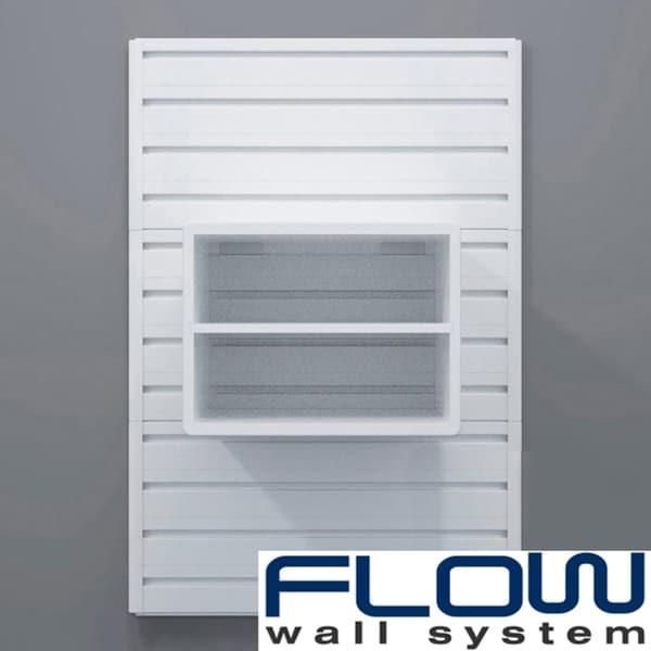 White Flow Wall Decor Storage Cube